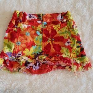 Floral jean skirt